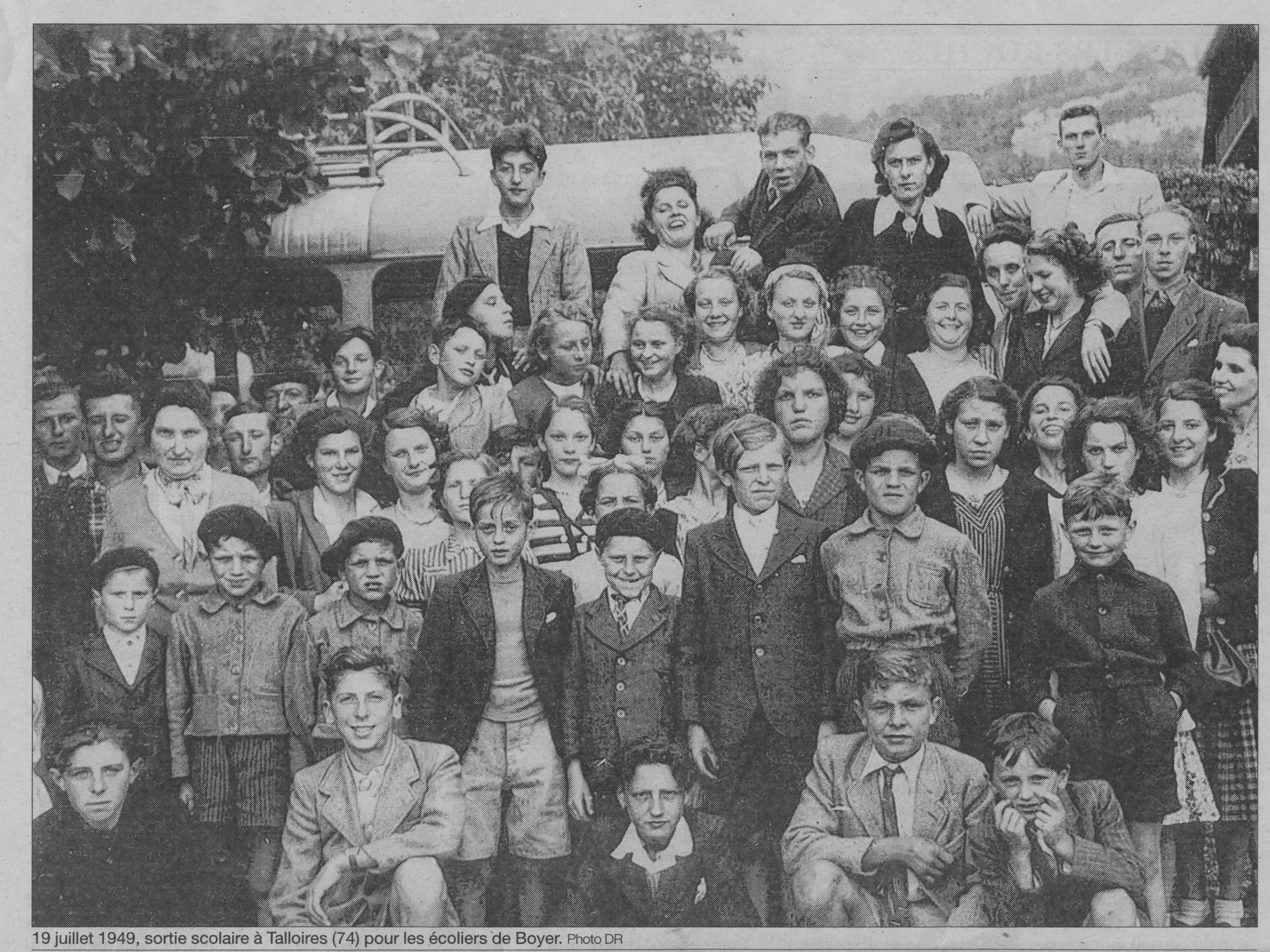19 juillet 1949 écoliers Boyer